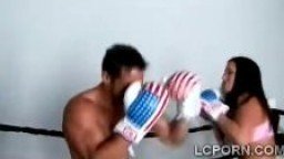 Combat de boxe termine en fellation