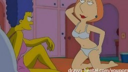 Porno Simpsons - Marge Simpson et Lois Griffin