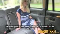 Faux taxi - une blonde se prend une bonne sodomie