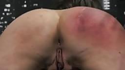 BDSM: attachée et frappée avec une règle hd