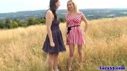 Mature lesbienne européenne : chatte léchée et gode ceinture - Vidéo porno hd