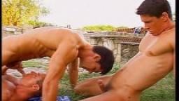 Sexe anal de groupe dehors entre gays hd