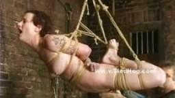 Esclave sexuelle attachée et torturée