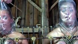 Deux esclaves attachées dans un donjon se font punir - Film x - #01