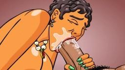 Une grosse femme de ménage noire se fait prendre en levrette et éjaculer sur le cul - Vidéo porno - #02