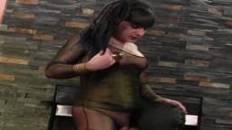 Une tapette masquée baisée par un travesti qui lui éjacule sur le dos - Vidéo x hd