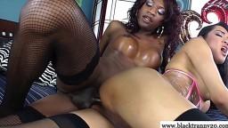 La bite noire d'une shemale défonce le cul d'un transexuel asiatique - Vidéo porno hd - #02