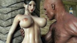 3D - Une lady profite d'un bon creampie d'une grosse bite - Vidéo porno - #01