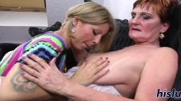 Une grand-mère lesbienne baise une jeune chaudasse - Vidéo porno hd - #02