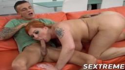 La grosse rousse Tammy Jean ne refuse pas cette bite en érection - Vidéo porno hd - #10
