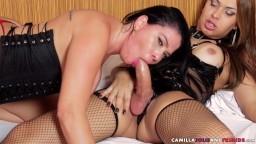 La brésilienne Soraya Carioca se fait sodomiser par une shemale - Vidéo porno hd