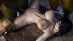 L'hentai Samantha en double pénétration avec des monstres - Vidéo porno hd