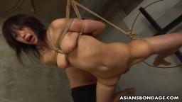 Le bondage de la japonaise Kana Sato obligée de sucer une petite bite - Vidéo porno hd